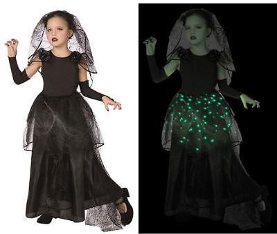 BRAND NEW DARK BRIDE LIGHT UP HALLOWEEN COSTUME GIRL SIZE 10/12 VAMPIRE GHOST - Light Up Vampire Costume