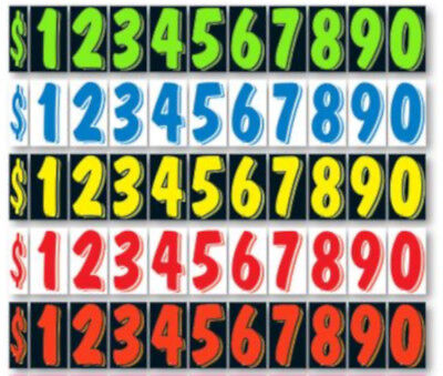 7 12 Inch Numbers Windshield Advertising Pricing Stickers Car Dealer You Pick