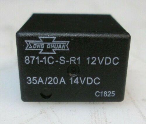 Song Chuan ISO Relay SPDT 871-1C-S-R1 12VDC 35/20A 14VDC NEW USA SELLER FASTSHIP