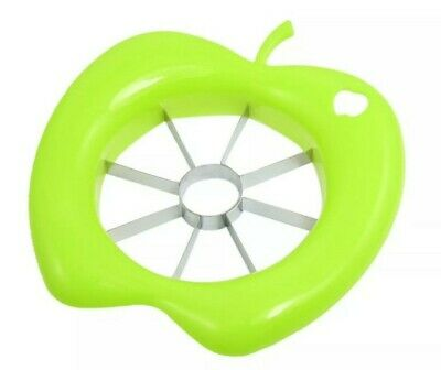 Apple Cutter Slicer Piler Corer Sharp Steel Blade - Green Apple Shape - NEW