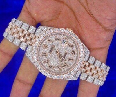 Rolex 41mm Jubilee watch 2 Tone Pink Gold and Steel Watch 18 Carat Diamonds Iced