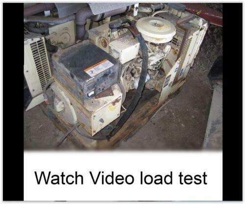 Kohl Commercial 10KW watt generator 120/240V LOW HRS!  runs great! Video