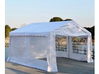 Outsunny Gazebo Marquee Party Tent, Steel Frame, 4x4 m-White