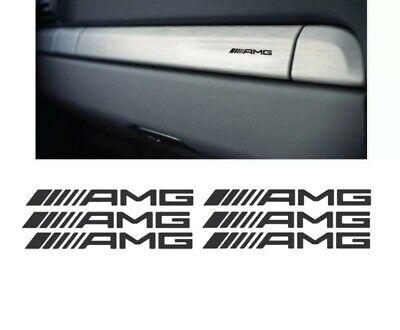 6x AMG Armaturenbrett Sticker Aufkleber Interieur Innenraum Tuning Mercedes C63