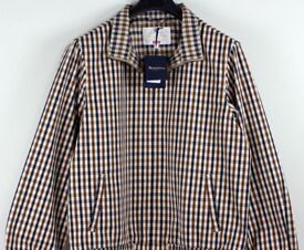 SUPREME X AQUASCUTUM Waterproof Club Check Jacket MEDIUM | BNWT RRP £328