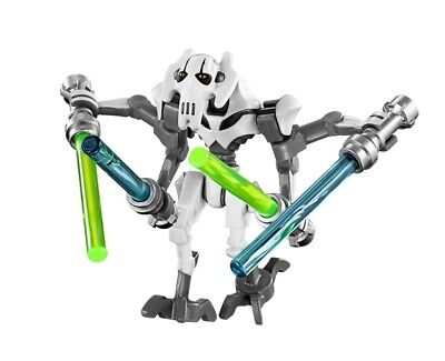 - LEGO STAR WARS MINIFIGURE GENERAL GRIEVOUS BLUE GREEN LIGHTSABERS 75040 75199
