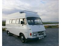 Vintage 1975 Mercedes 206d Hanomag Camper Van - Immaculate condition