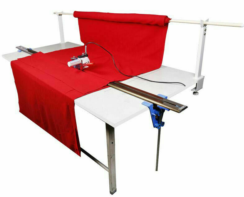 """110V Fbric Cutter with 86"""" Rack Digital Counter Delay Function High Speed Motor"""