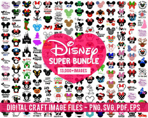 SALE 13,000+ Disney Cut Files  SVG, DXF, EPS, PNG files - For Vinyl & MORE!
