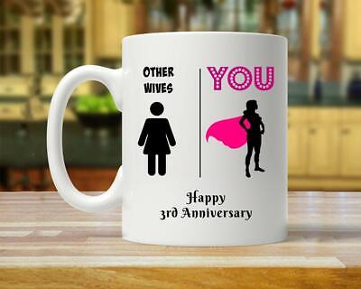 3 Year Anniversary Gift For Wife 3rd Anniversary Gift For Women Best Wife Ever