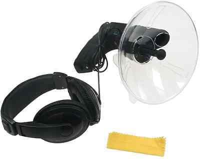Parabol-Richtmikrofon mit Kopfhörer und Aufnahmefunktion, Observation Beobachten