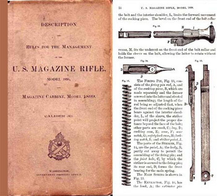 US Magazine Rifle & Carbine Model 1898 & 1899 Krag Manual (1901 edition)