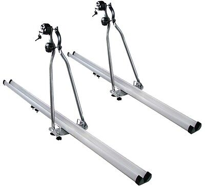 2x HD Silver Bike Bicycle Carrier Rack Roof Mounted Rooftop Upright Car SUV Van
