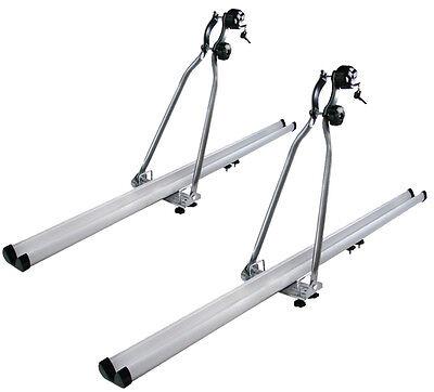 2x HD Aluminum Car Rooftop Rack Upright Roof Mount Bike Bicycle Carrier SUV Van