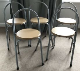 6 Folding Metal/Wood Chairs/Stools FREE DELIVERY 666