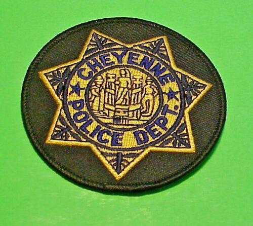 "CHEYENNE  WYOMING  WY  3 1/4""  POLICE PATCH  FREE SHIPPING!!!"