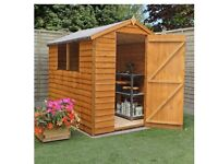 Wooden shed 8x6ft new
