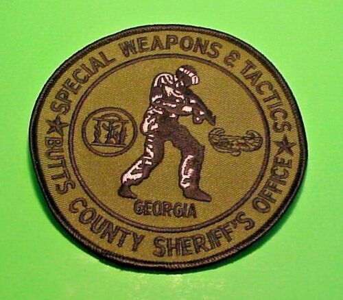 BUTTS COUNTY GEORGIA SWAT ( BLACK BORDER ) SHERIFF