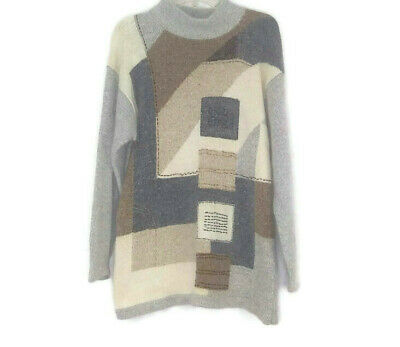 80s Sweatshirts, Sweaters, Vests | Women Vintage 1980's Segue Silk Angora Lambswool Mock Neck Tunic Sweater Women's SZ L $29.99 AT vintagedancer.com