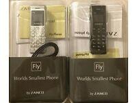 Zanco fly Mobile phone beat the boss mini smallest mobile phones tiny key fob voice changer plastic