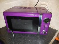 Purple Microwave Used Twice + Free Purple Kettle