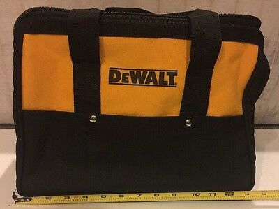 "NEW DEWALT Ballistic Nylon 13"" Tool Bag With 6 Outer Pockets and Solid Skids"