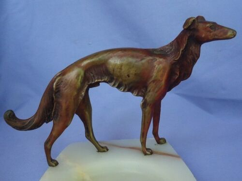 "bronze BORZOI Bruno Zach Austria 7"" dog"