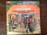 "Puccini, La Boheme, opera/classical. 12"" vinyl LP, £7.50 + postage"