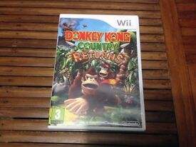 Nintendo Wii Donkey Kong Country Returns Game