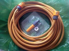 Hozelock 7230 Starter Garden Hose Pipe 30m 98 Feet Multi Purpose Durable + Fittings