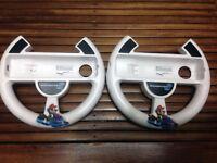 Two Official Wii U Mario Kart 8 Racing Wheel Mariokart 8