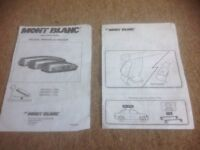 Mont Blanc roof top box plus roof bars - complete set