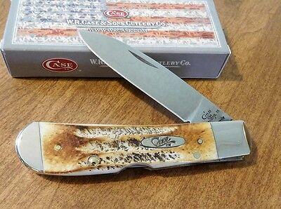 CASE XX New Bone Stag Handle Single Blade Tony Bose Tribal Lock Knife/Knives
