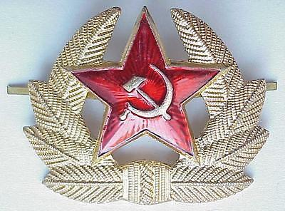 RUSSIAN SOVIET MILITARY GOLD WWII BADGE SOVIET ARMY RED STAR INSIGNIA USSR ORDER
