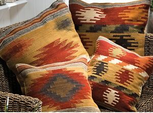KILIM-CUSHION-Covers-Handwoven-AZTEC-RANGE-Wool-Cotton-2-Sizes-SOFA-HOME-DECOR