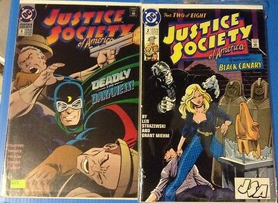 JUSTICE SOCIETY OF AMERICA  2 6 8 May 91 Jan Mar 93 Flash comic lot of 3