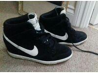 Nike high tops suede wedge heel. Size 7