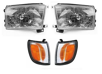FLEETWOOD BOUNDER DIESEL 2001 2002 CLEAR HEADLIGHTS LAMPS SIGNAL LIGHTS 4 PCS