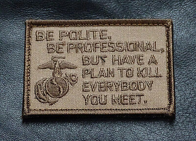 MARINE CORPS USMC  FUNNY TACTICAL MORALE HOOK PATCH (MRN1)