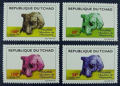 Tschad Chad 2005 Frühmensch Toumai Schädelfossil 2510-13 Postfrisch MNH
