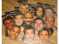 JOBLOT BUNDLE OF 33 BRAND NEW CELEBRITY PARTY MASKs CHRISTMAS HALLOWEEN BBQ XMAS