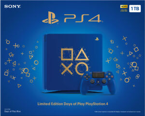 LIMITED EDITION PS4 Days of Play Blue 1TB STILL IN BOX