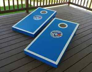 Blue Jays Handcrafted Cornhole Bean Bag Toss Game Kitchener / Waterloo Kitchener Area image 6