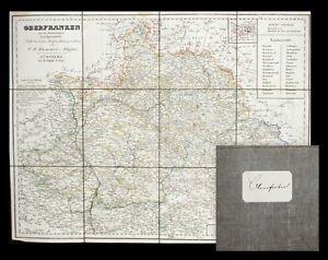 c1840 Franken Oberfranken Bamberg Bayreuth Grenzkolorierte Landkarte von Hammer