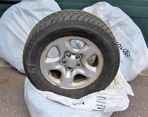 Goodyear Ultragrip Ice tire + rims 235 60 16 inch off 2010 Rav4