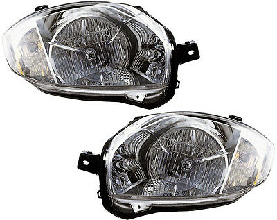 Headlights Headlight Assembly (w/Bulb) NEW Pair Set for 08-12 Mitsubishi Eclipse