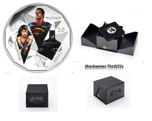 2017 Silver 1 oz. Batman V Superman Dawn Of Justice Trinity Coin