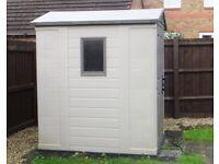 Keter Apex Outdoor Plastic Garden Storage Shed, 6 x 4 feet