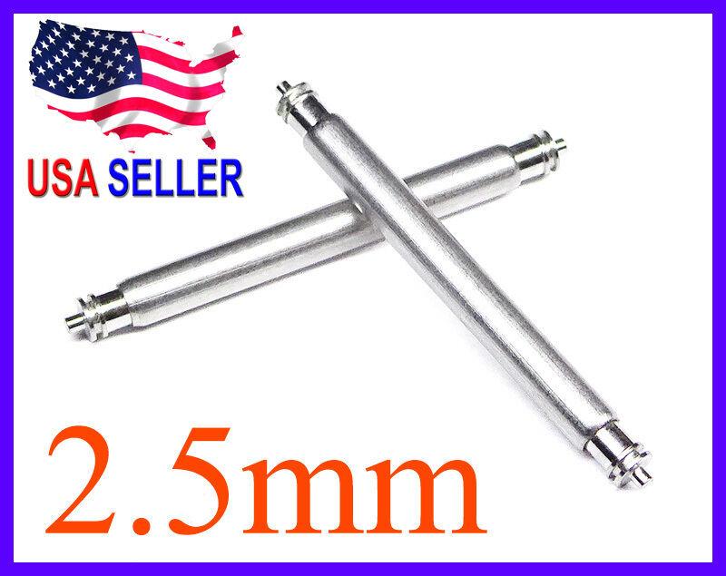 18mm 20mm 22mm 24mm 26mm FAT Spring Bar Pin 2.5mm w/ 0.8mm ends 4 pcs or 10 pcs