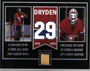 Ken Dryden game used stick photo